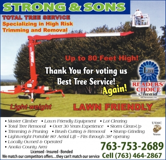 Thank You for Voting Us Best Tree Service!