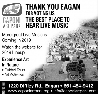Thank You Eagan for Voting Us the Best Place to Hear Live Music