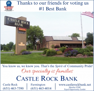 Thanks to Our Friends for Voting Us #1 Best Bank