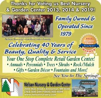 Thanks for Voting Us Best Nursery & Garden CEnter 2013, 2014 & 2019!