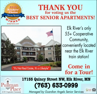 Thank You for Voting Us the Best Senior Apartments!