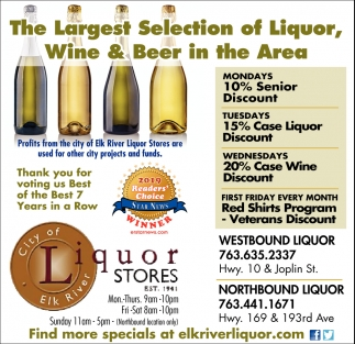The Largest Selection of Liquor, Wine & Beer in the Area