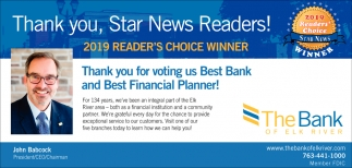 Thank you, Star News Readers!