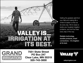 Valley is... Irrigation at Its Best
