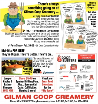 There's Always Something Going on at Gilman Coop Creamery
