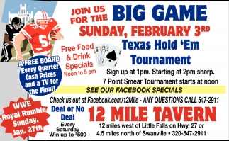Join Us for the Big Game