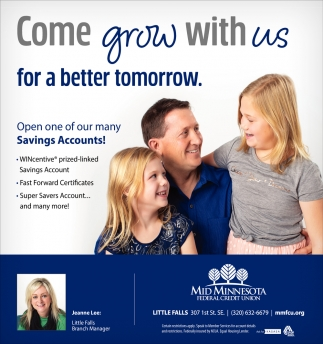 Come Grow with Us for a Better Tomorrow