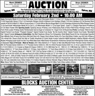 Auction Saturday February 2nd