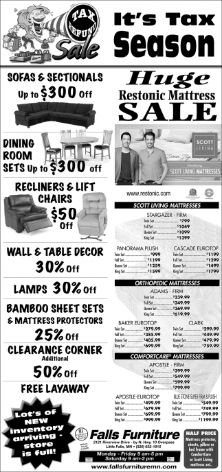 Huge Restonic Mattress Sale