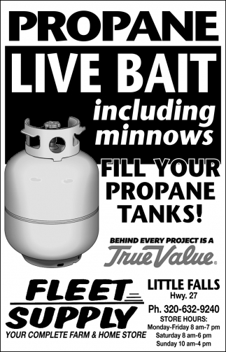 Fill Your Propane Tanks!