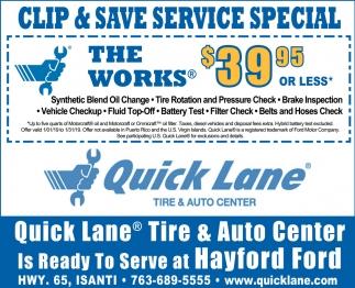 Clip & Save Service Specials