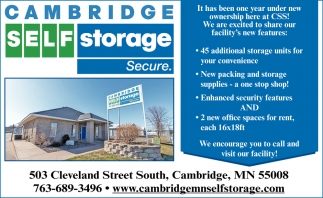 45 Additional Storage Unites for Your Convenience