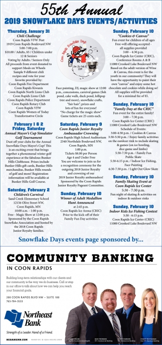 55th Annual 2019 Snowflake Days Events/ Activities