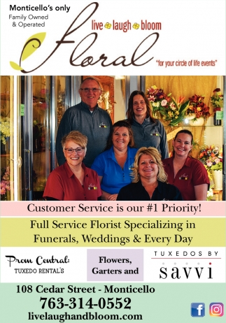 Monticello's Family Owned & Operated Floral Shop