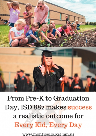 From Pre-K to Graduation Day, ISD 882 Makes Success a Realistic Outcome for Every Kid, Every Day