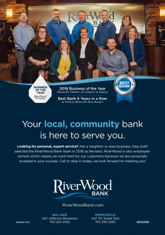 Your Local, Community Bank is Here to Serve You