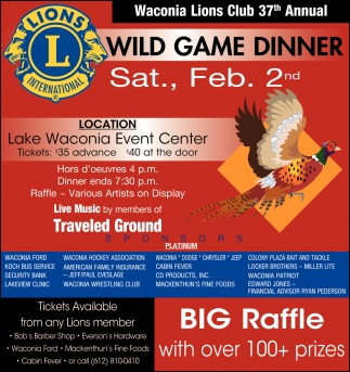 37th Annual Wild Game Dinner