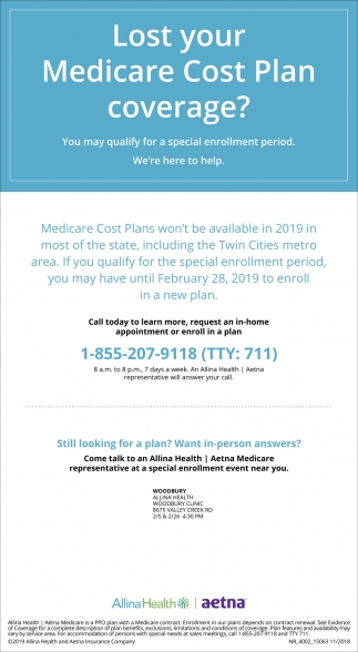 Lost Your Medicare Cost Plan Coverage?