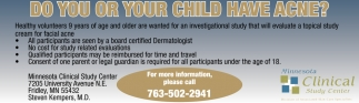 Do You or Your Child Have Acne?