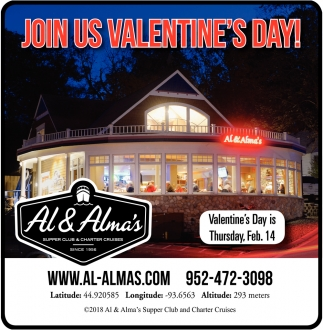 Join Us Valentine's Day!