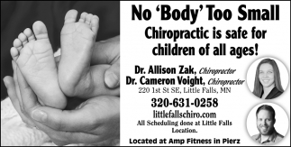 Chiropractic is Safe for Children of All Ages!