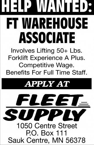 FT Warehouse Associate