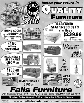 Invest Your Return in Quality Furniture