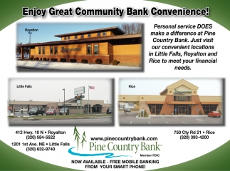 Enjoy Great Community Bank Convenience!