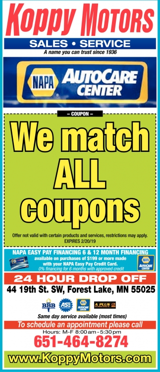 We Match All Coupons