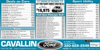 Deals on Cars