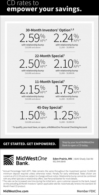 CD Rates to Empower Your Savings