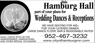 Make Hamburg Hall Part of Your Plans for Wedding Dances & Receptions