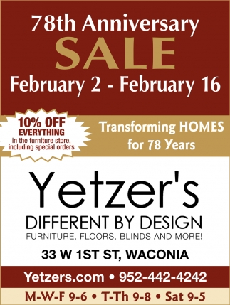 78th Anniversary Sale