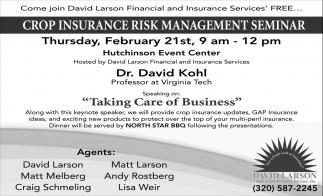 Crop Insurance Risk Management Seminar