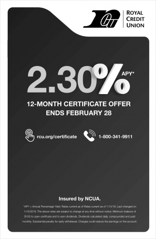 12-Month Certificate Offer Ends February 28