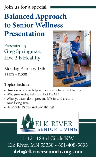Balanced Approach to Senior Wellness Presentation