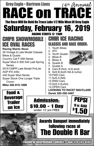 14th Annual Race on Trace