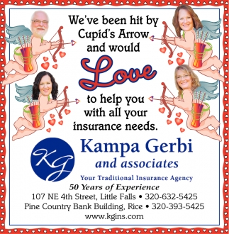 We've Been Hit by Cupid's Arrow and Would Love to Help You with All Your Insurance Needs