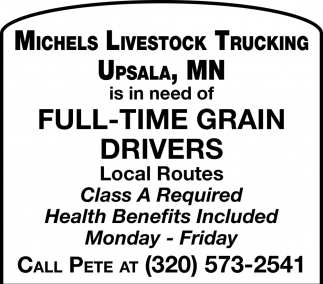 Full-time Grain Drivers