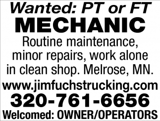 PT or FT Mechanic