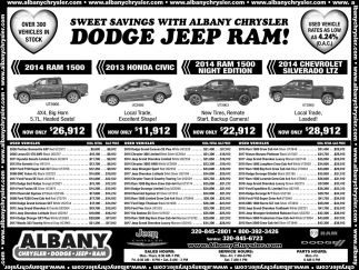 Sweet Savings with Albany Chrysler