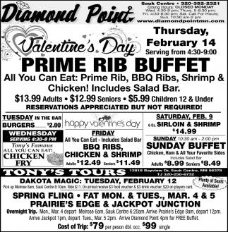 Valentine's Day Prime Rib Buffet