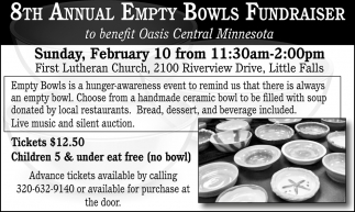 8th Annual Empty Bowls Fundraiser