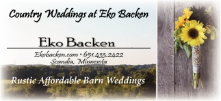Country Weddings at Eko Backen
