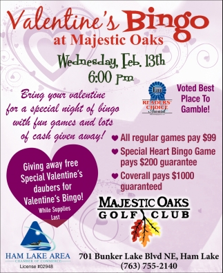 Valentine's Bingo at Majestic Oaks