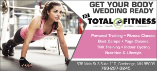 Get Your Body Wedding Ready at Total Fitness
