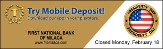 Try Mobile Deposit!