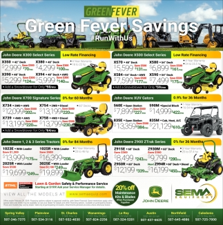 Green Fever Savings