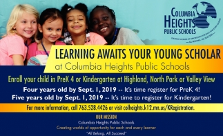 Learning Awaits for Young Scholat at Columbia Heights Public Schools