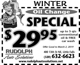 Winter Oil Change Special